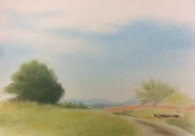 風景画家Itaru先生のパステル画...