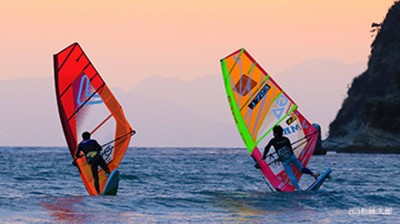 windsurfing special demo night wave 光の波プロジェクト2018 神奈川