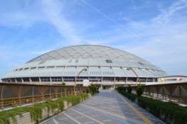 国際規格に合わせた広さのドーム