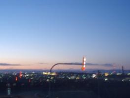 展望スポットから釧路市を一望する