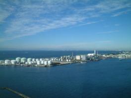 東京湾をぐるっと一望できるパノラマ展望室