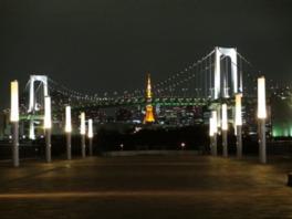台場デッキ(ウエストプロムナード)からの夜景