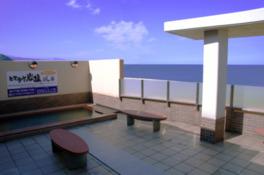 日本海一望の露天風呂