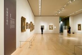 広々とした空間を贅沢に利用した展示が好評