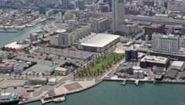 大きな催しは本館と新館の2展示場と会議場の合計3施設で行われる