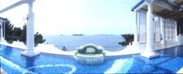 大海原を見晴らすヨーロッパ風の展望風呂・天恵の湯