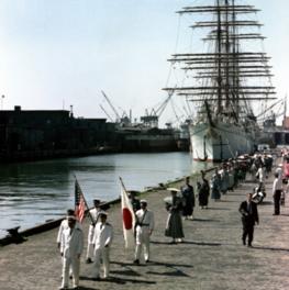 日本丸日米修好通商百年記念航海 中嶋房徳写真展