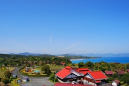 太平洋を見下ろす県内最大級のキャンプ場
