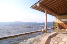 浴場から紀淡海峡を望む絶景の温泉