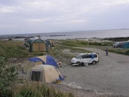 オートキャンプは敷地内ならどこでも自由に設置OK
