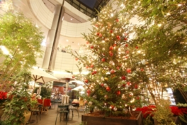 華やかな装飾に彩られたクリスマスツリー