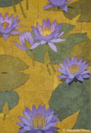 木版画技法で描く美しい花の世界