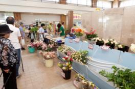 切花、鉢花の販売コーナー
