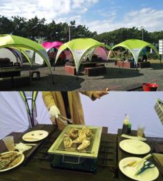 稲毛海浜公園バーベキュー場「かき小屋」
