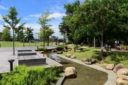 倉敷市の明るい未来の象徴としての願いが込められた公園