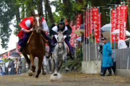 賀茂神社の祭礼 足伏走馬(古式競馬)
