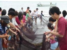 地引網と海鮮バーベキュー 春
