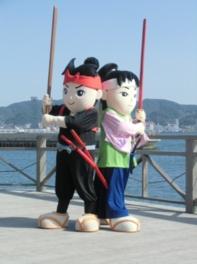 武蔵・小次郎決闘の寸劇☆着ぐるみバージョン☆