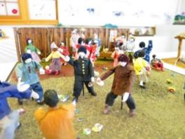 矢野しのぶさんが作る和紙人形展~記憶の中にある上津江の風景~