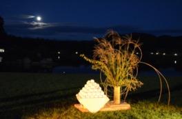 日本三名園の1つで眺める中秋の名月は格別