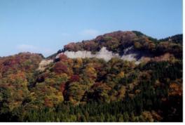 宝達山頂から望む鶏坂
