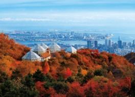 眺望のきく展望プラザから秋景色を満喫
