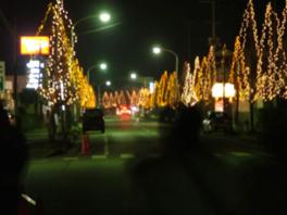豊里駅前冬の蛍通り