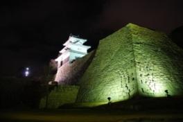 丸亀城石垣ライトアップ