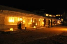 月山志津温泉 雪旅籠の灯り