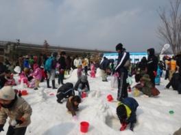 雪の遊園地inモリコロパーク雪まつり