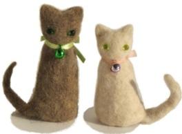 猫毛フェルトワークショップ飯田橋「猫毛人形」