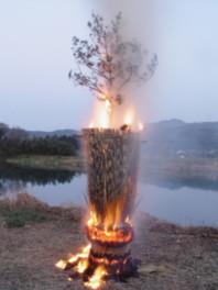 松岡御柱まつり(ばば焼きまつり)