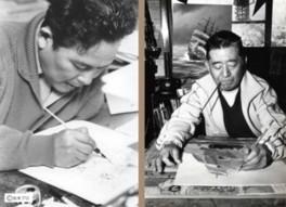 企画展「戦傷をのり越えて描いた日々~水木しげる・上田毅八郎の軌跡~」