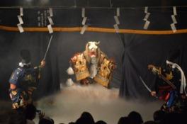 広島市森林公園 夜間開園 神楽上演