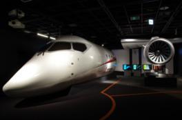 国産ジェット機MRJの実物大模型