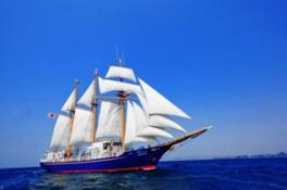万葉故地と瀬戸内の多島美を辿る帆船の旅(博多~広島コース)
