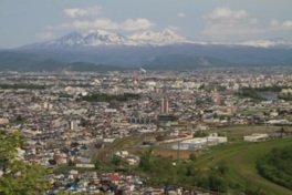 嵐山展望台からの眺望