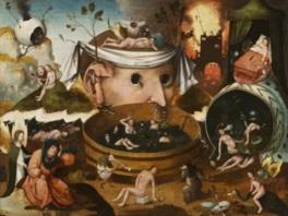 幻想的な世界を表現したヒエロニムス・ボス工房の「トゥヌグダルスの幻視」