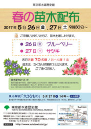 東京都水道歴史館 春の苗木配布