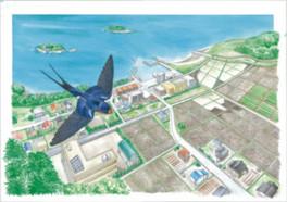 企画展「つばめのハティハティ 箕輪義隆の鳥絵展」