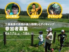 三瓶高原の自然の食べ物探しとデイキャンプ