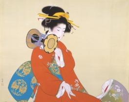 上村松園《鼓の音》昭和15(1940)年 松伯美術館蔵