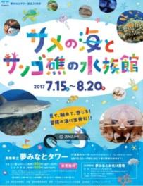 サメの海とサンゴ礁の水族館