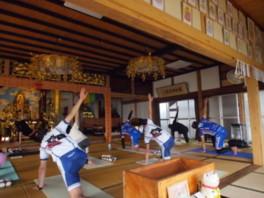 チャリヨガ in 醍醐寺(6月)