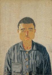 《自分の顔》  貼絵  1950(昭和25)年  (C)清美社
