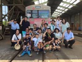 夏休み企画 飯坂線貸し切り子ども車両基地探検ツアー