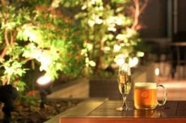 ホテルのガーデンテラスで開催するビアテラス