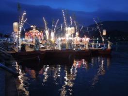 船団が瀬田の唐橋まで戻る頃が祭りのクライマックス