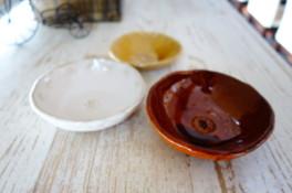 夏休み体験スタンプで陶芸ボウル作り