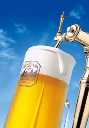 大阪の吹田工場から直送されるビールは鮮度抜群